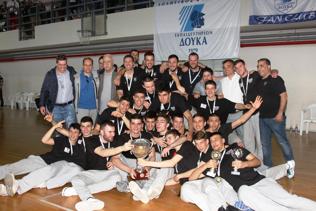 Πρωταθλητές Ελλάδας εφήβων τα εκπαιδευτήρια  ΑΣΕ Δούκα , αργυρός ο Ολυμπιακός στην πεντάδα ο Αρσενόπουλος