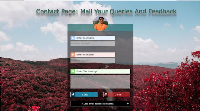 design an attractive contact page for blogger