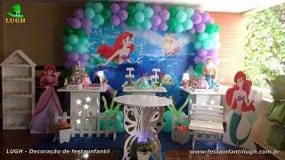 Decoração festa Ariel- Aniversário - Barra-RJ