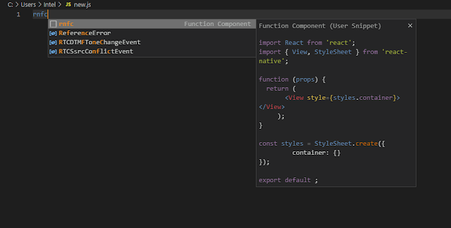 How to Add an Custom Snippet for Javascript in Visual Studio Code Editor