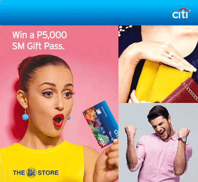 Citibank: Win a P5,000 SM Gift Pass when you shop at The SM Store