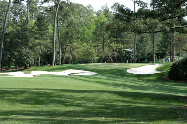 The green on the 10th hole at Augusta National