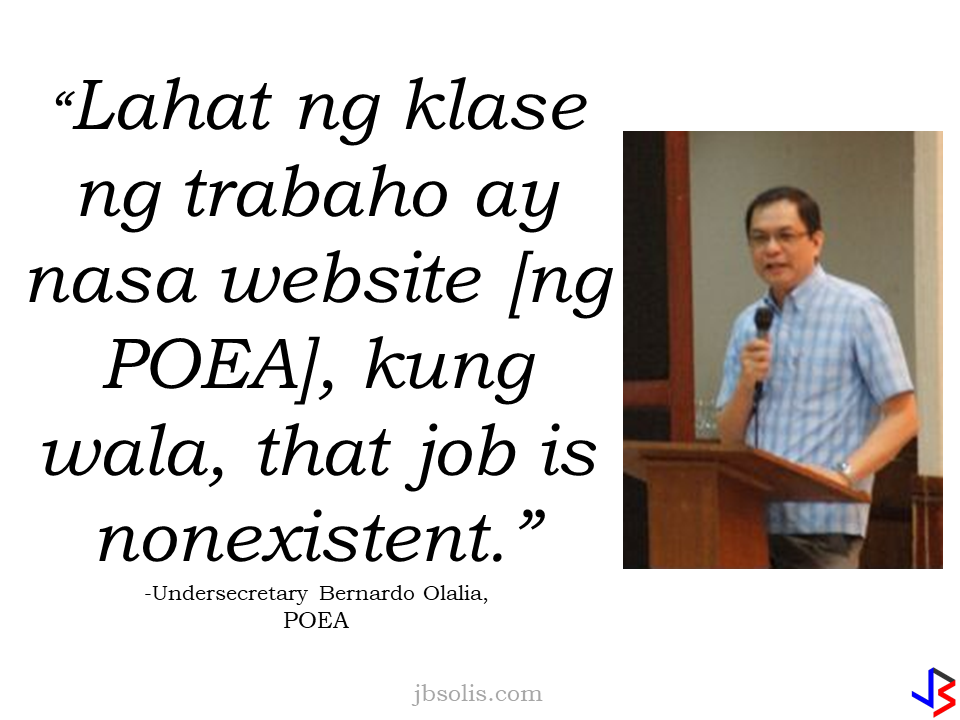 """Labor Secretary Silvestre Bello III has denied being in talks with Chinese officials about a plan to hire  domestic workers from the Philippines.  In a phone interview with The SUN, a Filipino publication based in Hong Kong, Bello said that he haven't had any talks with Chinese officials regarding this.  """"I haven't talked to anyone from China, much less agreed to meet with anyone next month on this,"""" Secretary Bello said.  He also said that he is not aware that anyone from the Chinese embassy in the Philippines visited his Undersecretary, Dominador Say, disclosing such plan. It is not in his very knowledge that there is a plan for a follow-up meeting next month.  Philippine Ambassador to China Chito Sto. Romana said there had been indications that China plans to open its door to Filipino domestic workers, but, he was not aware about what Undersecretary Say disclosed to various news publications in Manila, including Philippine Star. """"I am not in a position to confirm this report in the Philippine Star, talks are still exploratory at this stage, but there are indications that Chinese authorities are interested in opening the door somewhat to Pinoy household service workers (HSW). Shanghai & Guangzhou authorities have recently announced an experiment to grant work visas to Pinoy HSWs, these are pilot projects that could pave the way to more work visas for Pinoy,""""  Sto. Romana said.   The statement from Undersecretary Say recently stirred up confusion even in the news agencies. The Philippine Star quoted Say as saying that the salary to be given was Php100,000 (US$1,980), while on the report published by the Manila Bulletin  said that China will be hiring 100,000 workers every month with possible P50,000 salary. Usec. Say  later told the South China Morning Post that the reported salary offer was far from accurate.  However, he stood by his original statement that he discussed the plan with Chinese embassy officials. Say also said that China wants to hire 100,000 foreig"""