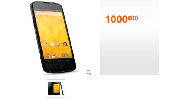 4 Nexus Could Cost 599 Euros out of Google Play