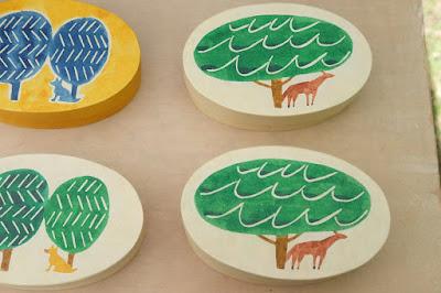 松本クラフトフェア2017 紙の箱工房AkaneBonBon 馬と木