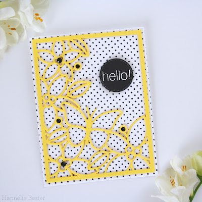 Simon Says stamp Floral card Front die