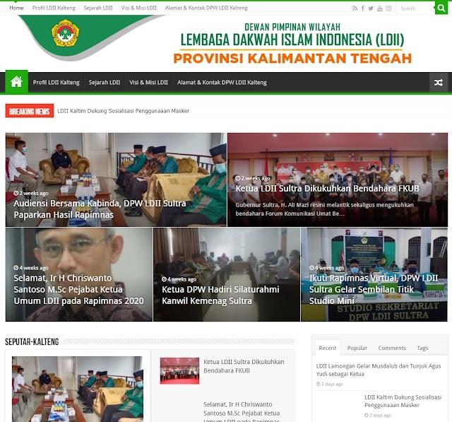 https://ldiikalteng.or.id/  WEB DPW LDII Kalimantan Tengah