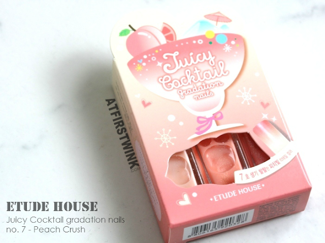 Review: Etude House Juicy Cocktail gradation nails no. 7 - Peach Crush
