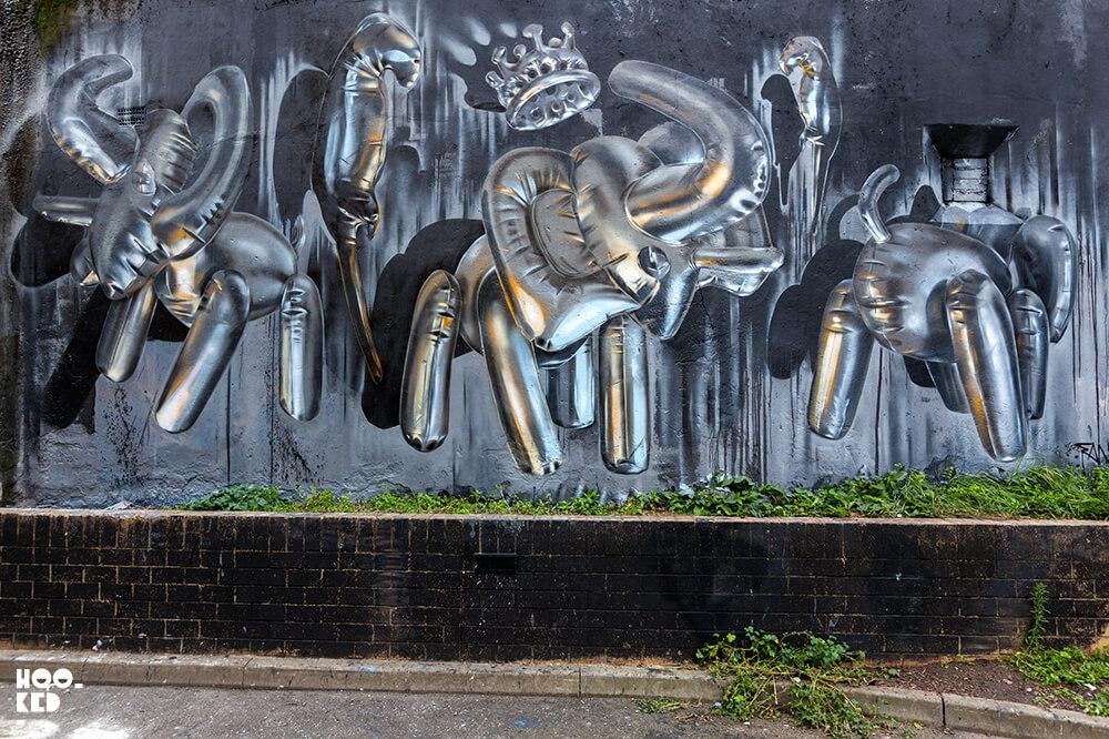 England-London-Brick-Lane-Street-Art-3d-Balloon-Graffiti-mural-by-Fanakapan