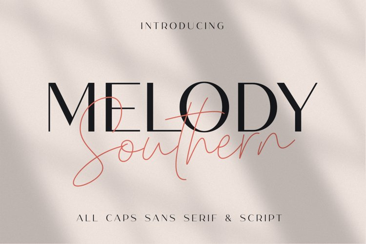 Melody Southern Font - Free All Caps Sans Serif and Script Typeface