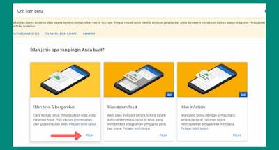 Cara membuat iklan link adsense