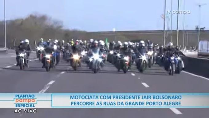 AO VIVO: Assista a Mega Motociata de Bolsonaro em Porto Alegre