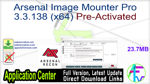 Arsenal Image Mounter Pro 3.3.138 (x64) Pre-Activated
