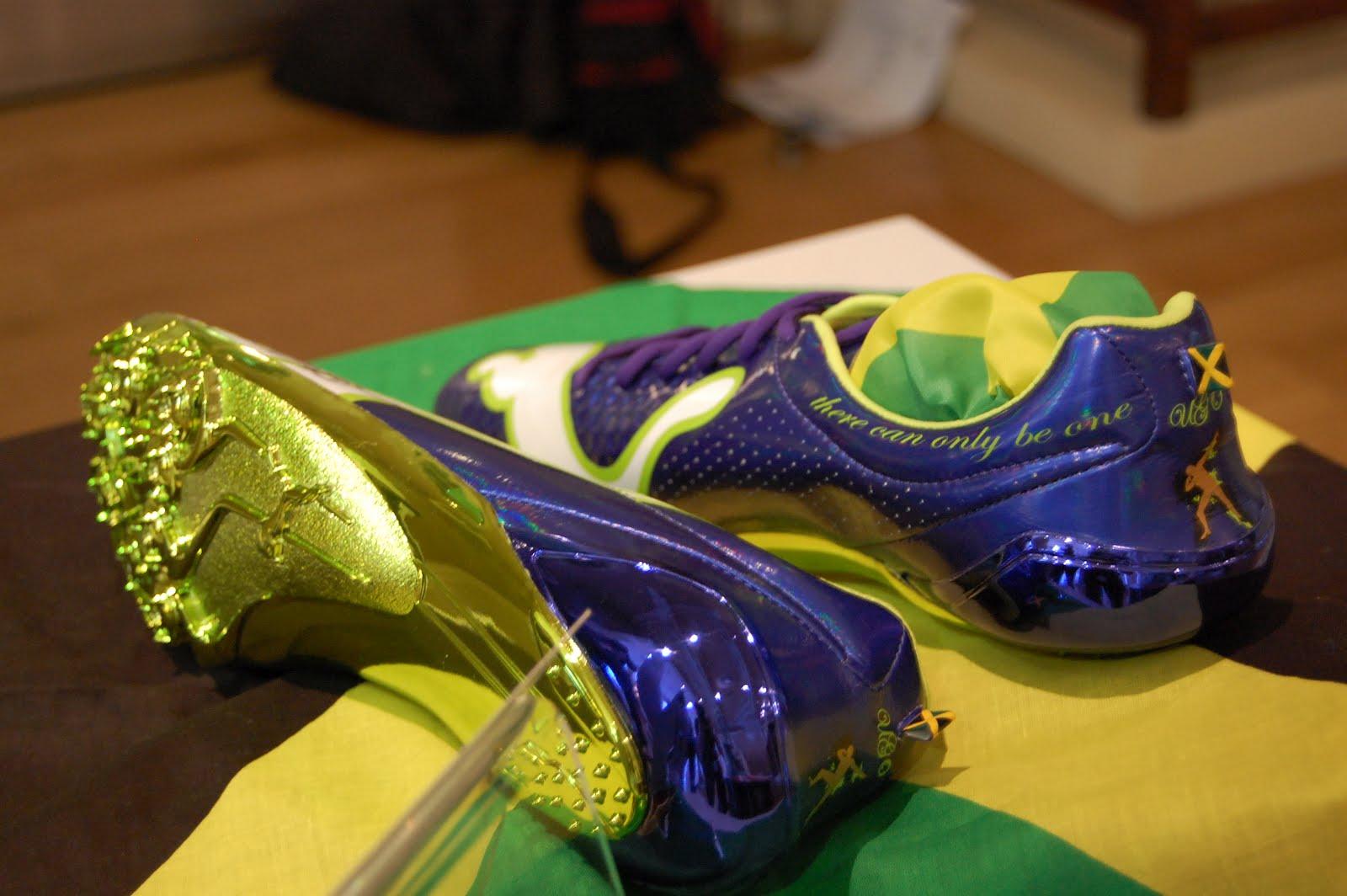 Running spikes signed by superstar Usain Bolt sprint into Leeds 0f9d41765