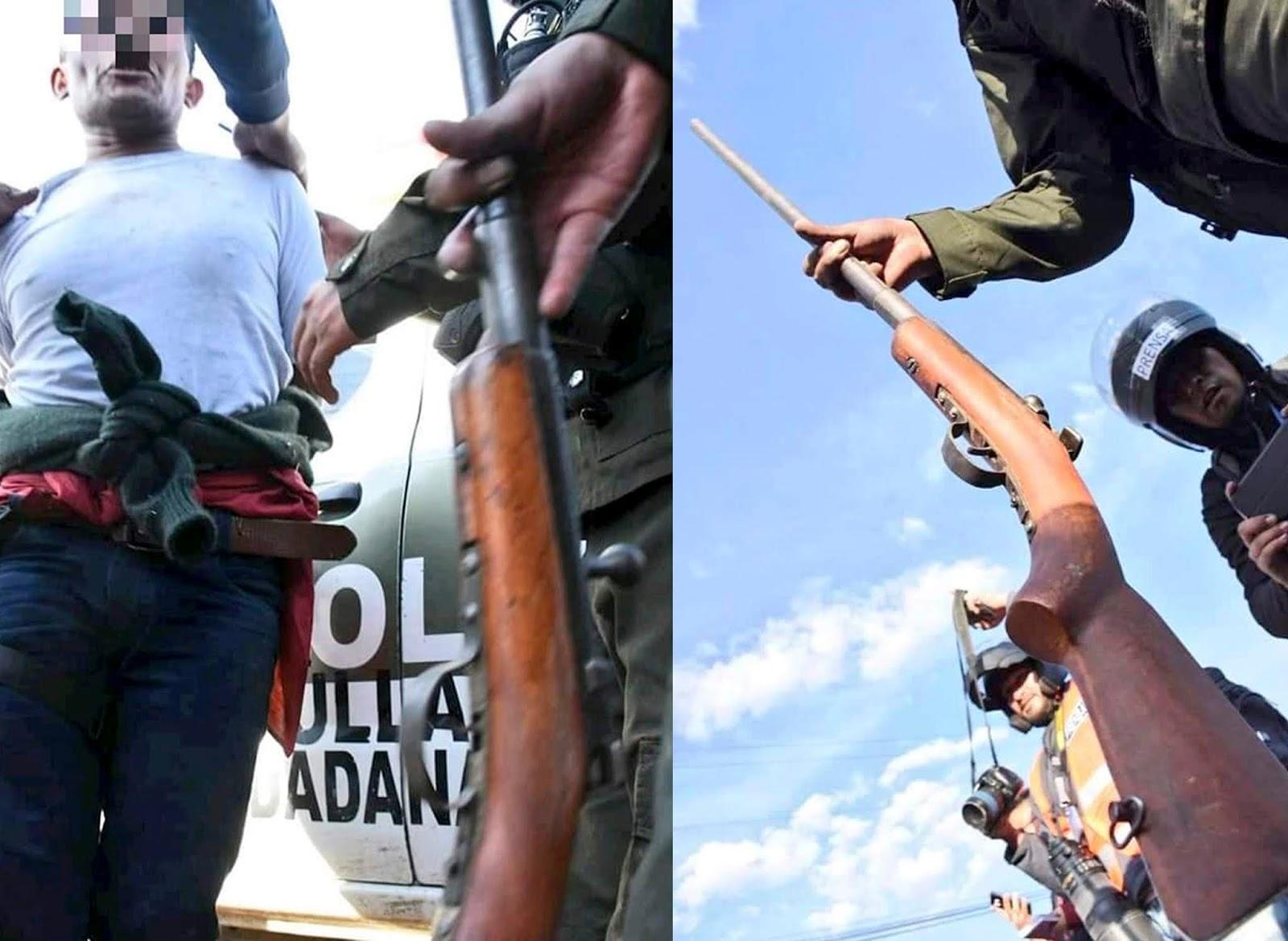 Armas secuestradas por la Policía en tenencia de algunos cocaleros del Chapare de Morales / POLICÍA NACIONAL