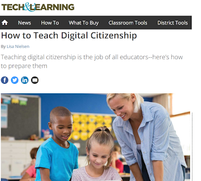 "Screenshot of ""How to teach digital citizenship"" article in Tech & Learning magazine"