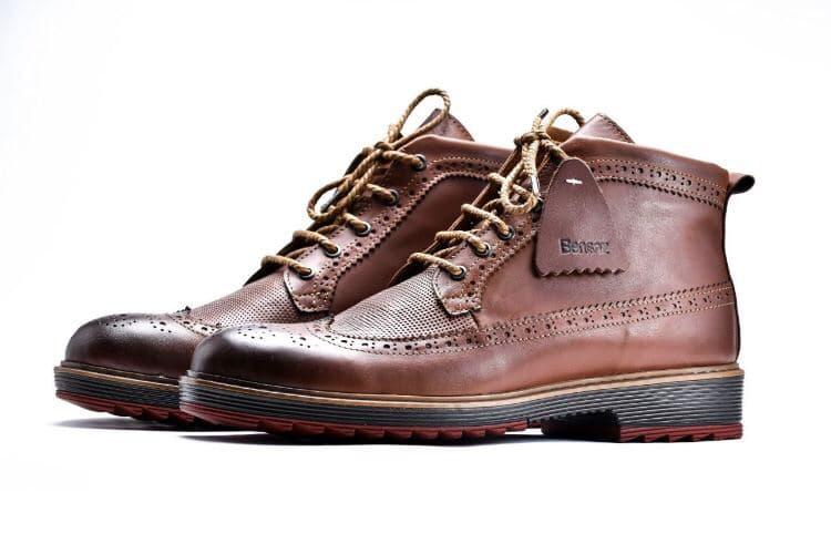 chaussure d'hiver 100% cuir tres bonne qualite