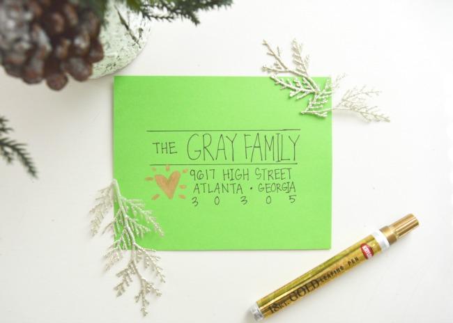 11 Creative Ways To Address Christmas Cards - how to address christmas cards