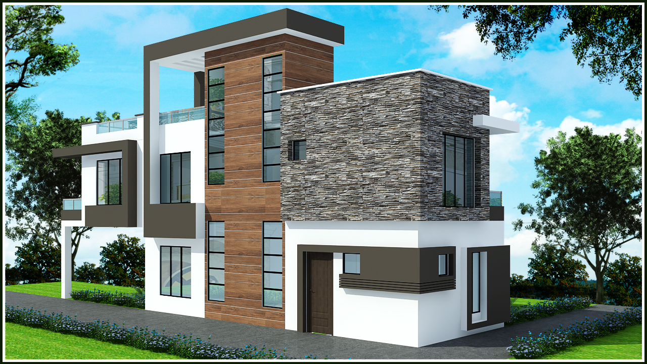 Duplex elevation designs india joy studio design gallery for Duplex house models