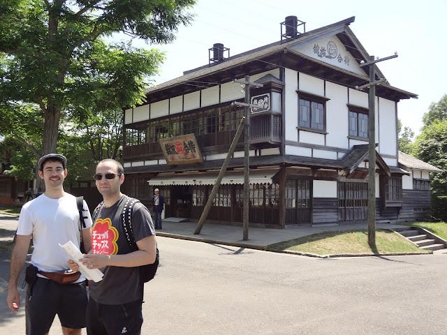 Tienda en el museo de la villa histórica de Hokkaido