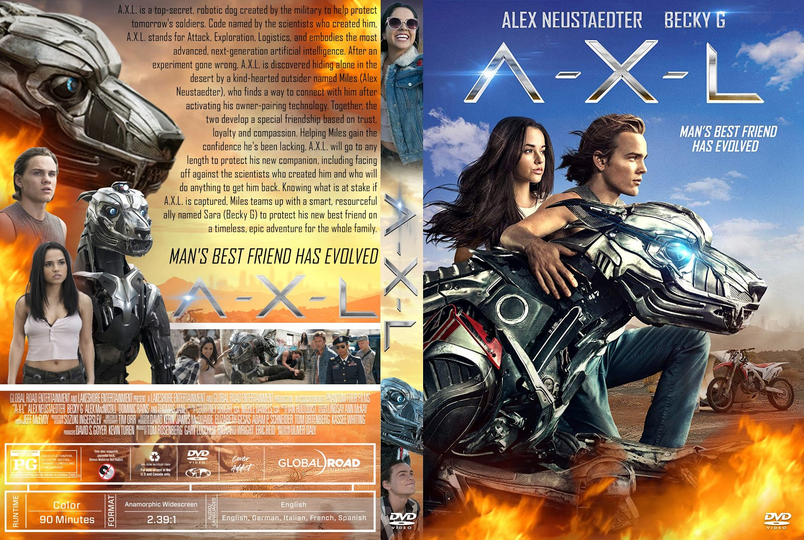 Axl Movie 2018 a-x-l dvd cover | cover addict - free dvd, bluray covers and