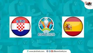 مباراة اسبانيا وكرواتيا بث مباشر