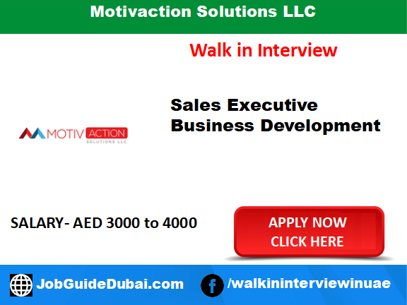 Motivaction Solutions LLC career for sales executive and business development job in Dubai