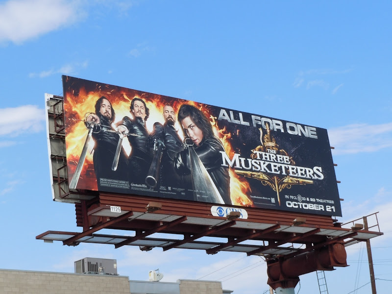 Three Musketeers movie billboard