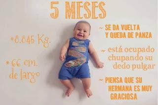 desarrollo del bebe - 5 meses
