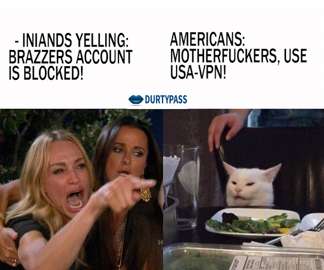 Woman Yelling at a white Cat in dinner table (funny cat memes)