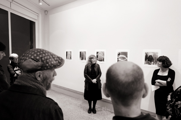 Opening speech, Julie Williams curated by Sandy Edwards THE TEARS at Barometer gallery. Photographed by Kent Johnson.