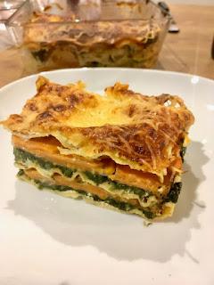 image Lasagnes veggie  épinard, patate douce et ricotta