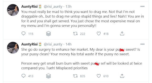 'You Can Afford Plastic Surgery But Not Your School Fees' - Pretty Ladies Fight Dirty On Twitter