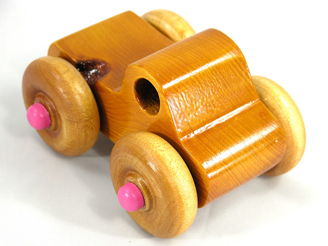 Handmade Wooden Toy Monster Truck Based on the Play Pal Series Pickup