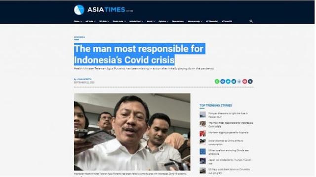 Media Asing Sebut Menkes Terawan Bertanggung Jawab atas Krisis Covid-19