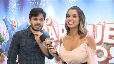 Mônica com Lucas Veloso (Divulgação SBT)