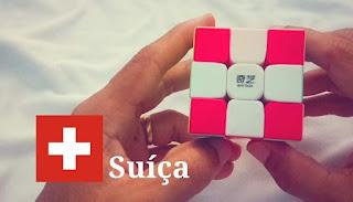 Switzerland Flag on Magic Cube