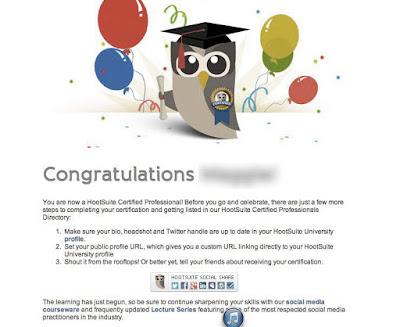 HootSuite Certificado de Marketing online en social media