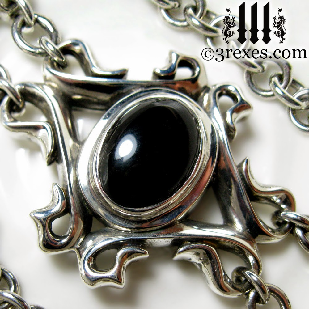 3 REXES JEWELRY: The EMPRESS Black Onyx Choker Gothic