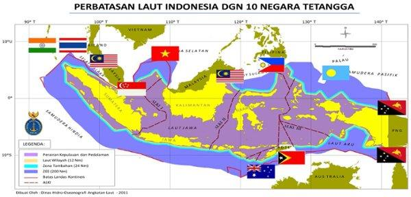 Gambar   Batas Laut Indonesia