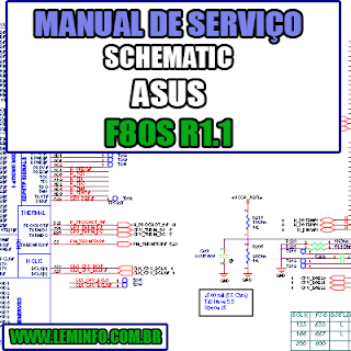 Esquema Elétrico Manual de Serviço Notebook Laptop Placa Mãe ASUS F80S R1.1 Schematic Service Manual Diagram Laptop Motherboard ASUS F80S R1.1 Esquematico Manual de Servicio Diagrama Electrico Portátil Placa Madre ASUS F80S R1.1