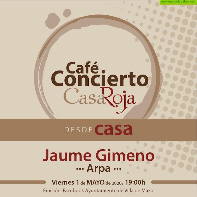 Jaume Gimeno inaugura en mayo el ciclo Café Concierto en las redes sociales de Mazo