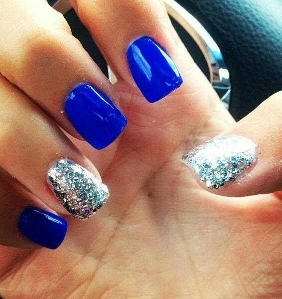 Nail Art Blue Glitter: Nails & Fancy Nail Polish