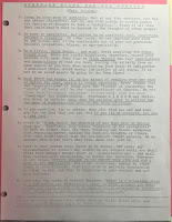"The single photocopied sheet of ""Standard Rules for the Student."""