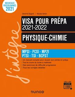 Physique-Chimie - Visa pour la prépa 2021 - 2022 - MPSI - PCSI - MP2I - PTSI - TSI-BCPST