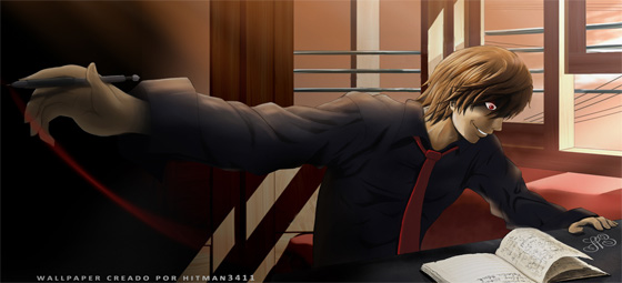 wallpapers hd anime death note kira light yagami l near melo