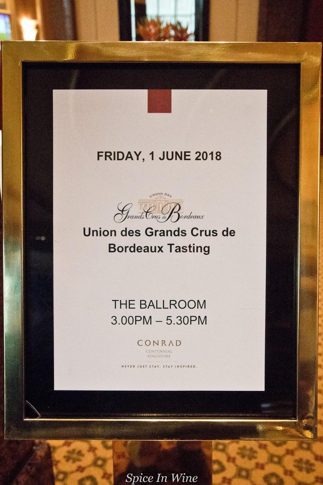 Union Des Grands Crus De Bordeaux : union, grands, bordeaux, Spice, Wine:, Union, Grands, Bordeaux, Vintage, Tasting, Singapore