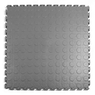 Greatmats Warehouse Floor Coin Top PVC Plastic Garage Tile