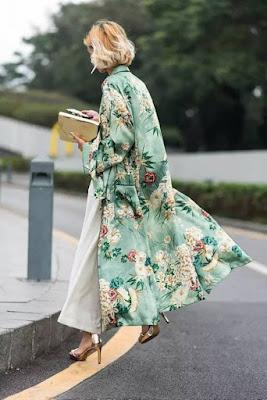 Kimono lungo per outfit eleganti foto Pinterest