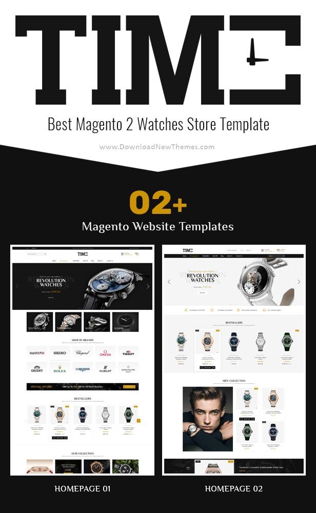 Modern Magento 2 Watch Store Theme